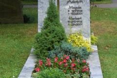 Steinmetz Scherer Ulm Grabmal stehend Adolph
